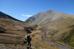 Hiking the Ahuriri River Track on the Te Araroa Trail