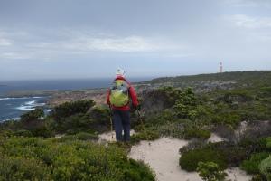 Walking towards Cape du Coudic lighthouse